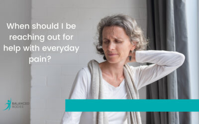 When should I be reaching out for help with everyday pain?